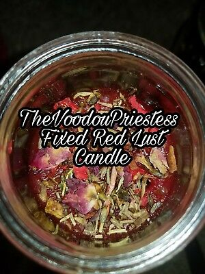 RED Lust Candle ~  Love, Luck, Passion Candle Magic Spells Voodou Wicca Pagan