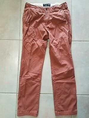 Abercrombie & Fitch ROSE Color Slim Straight Leg Zip CHINO Pant Mens 28X30