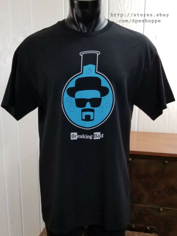 Breaking Bad Heisenberg Chemical Beaker Walter White Cooks Meth T-Shirt Sz L