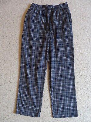 Schwarze Fleece Pyjama-hosen (Neu Herren Fruit Of The Loom Fleece Schlaf Pyjama Hose Schwarz Kariert M 32-34)