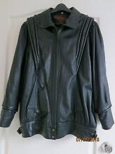 Retro vintage Espagna womens black leather jacket Size 14 Kellyville The Hills District Preview