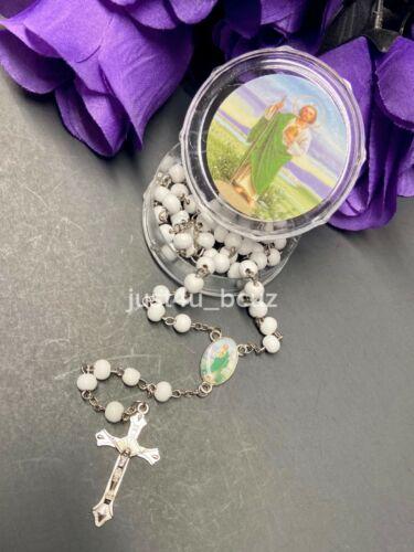 Saint Jude Rosary San Judas Tadeo Rosario Verde Protection Green Catholic Jesus