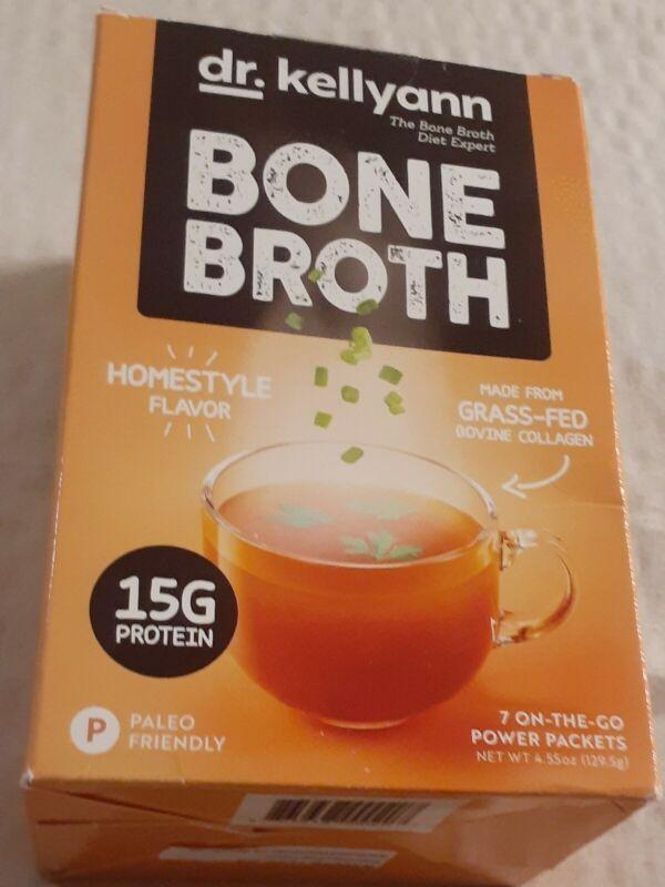Dr. Kellyann Bone Broth Kellyann's Homestyle Flavor Grass Fed 7 Power Packets