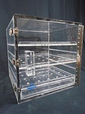 "NALGENE Acrylic 12"" Tall Adjustable 3-Shelf Desiccator Cabinet Dry Box 5317-0120"
