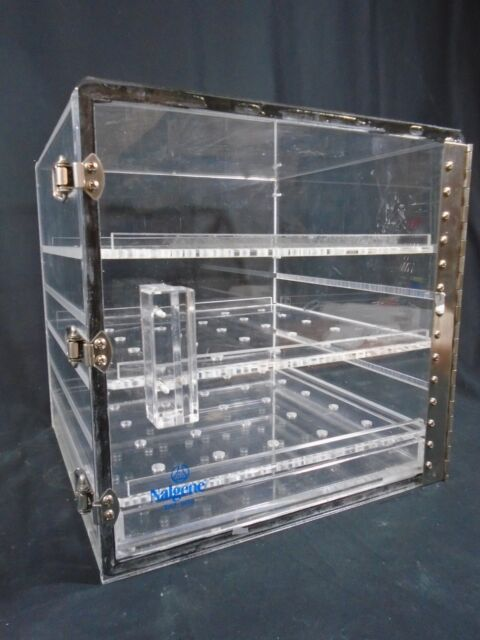 Item 3 NALGENE Acrylic 12u201d Tall Adjustable 3 Shelf Desiccator Cabinet Dry  Box 5317 0120  NALGENE Acrylic 12u201d Tall Adjustable 3 Shelf Desiccator  Cabinet Dry ...