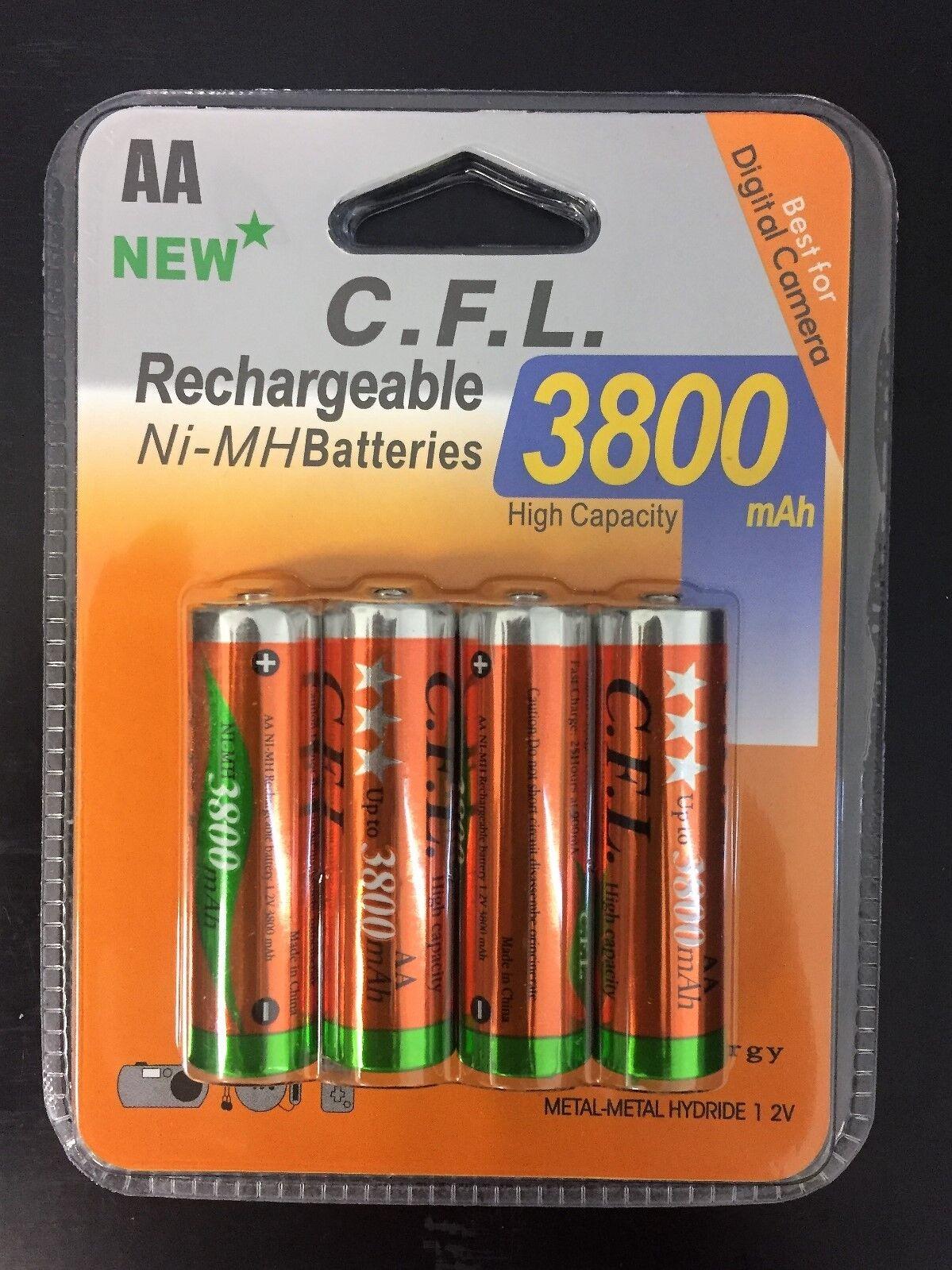 AKKU Batterien AA 3800 mAh NI-MH AKKU Wiederaufladbar