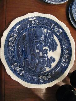 Blue and White Copeland Plate Lindisfarne Clarence Area Preview