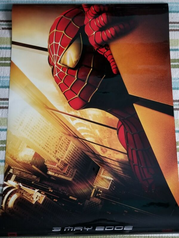 Spiderman recalled movie poster 27x40 double sided