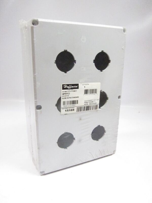 New Hoffman Q6PBPCD 6 Hole Pushbutton Enclosure