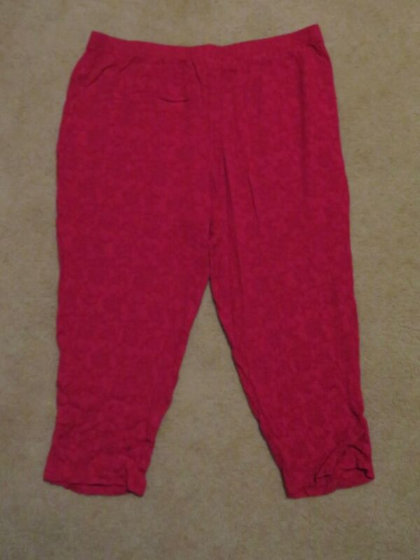 Missy Le Mieux Women/'s Elastic Waist Crinkle Spanish Red Palazzo Pants Plus
