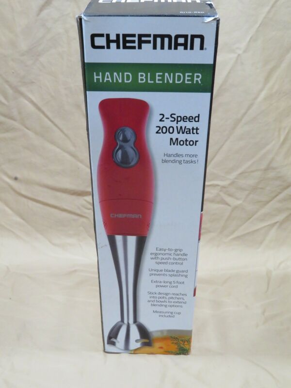 New Chefman Immersion Stick Mixer Blender 2 Speed 200 Watt R