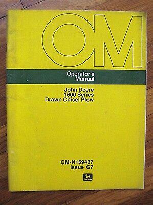John Deere 1600 Drawn Chisel Plow Operators Manual 1608 1610 1611 1620 1622