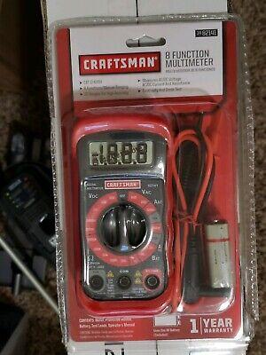 Craftsman 8-function Digital Multimeter Ac Dc Tester Meter Voltmeter Ohmeter New
