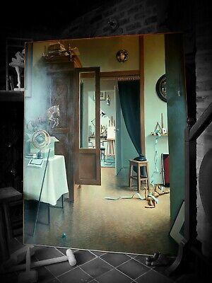Anne Francoise Couloumy 'La Reverence' oil on canvas 114x146cm Hopper Hammershoi