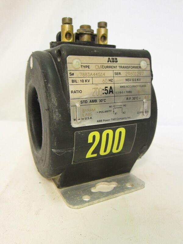 ABB CMF Current Transformer 200:5A 10KV 60Hz