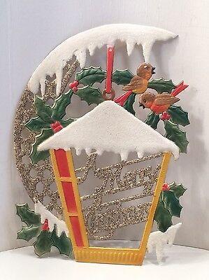 MERRY CHRISTMAS GEPRÄGTE DRESDNER PAPPE