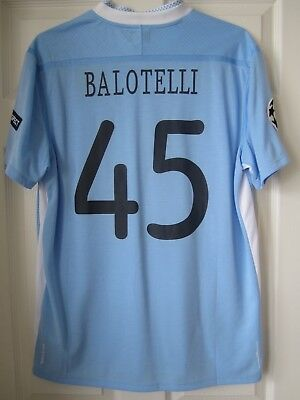 Umbro 2011-12 Manchester City Mario Balotelli CL Player Issue Soccer Jersey image