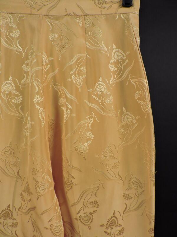 6af5f21c668b VINTAGE 1960 S BRIGHT YELLOW SILK CAPRI PANTS FOR DRESS