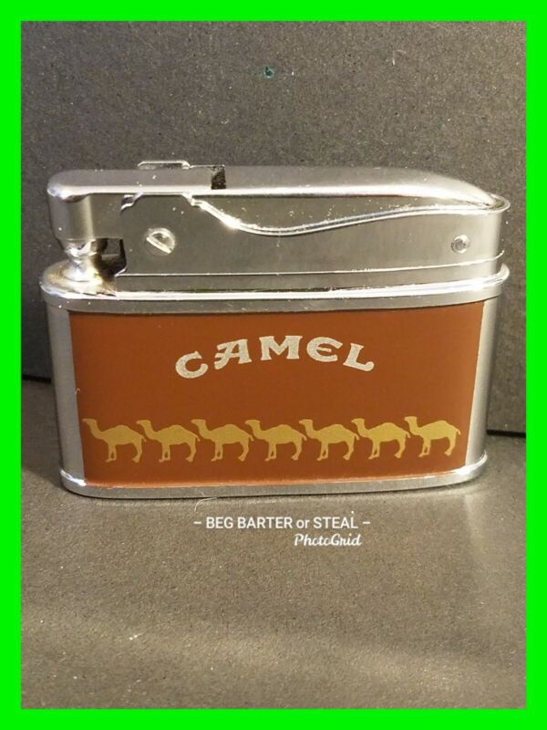 Early Vintage Camel Flat Ad Cigarette Lighter Near Mint Cond Very HTF #3