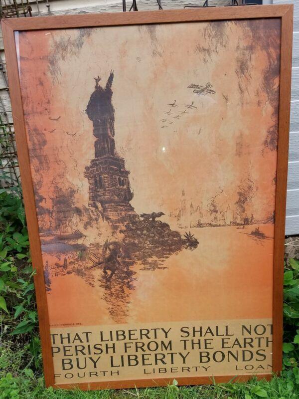 World War I Fourth Liberty Bond Original Poster-Framed-Joseph Pennell