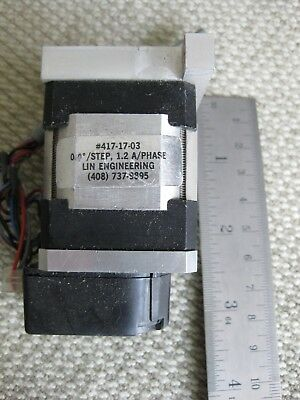 Lin Engineering 417-17-03 Step Motor 12 Aphase Stepping Stepper Hp Encoder Usa