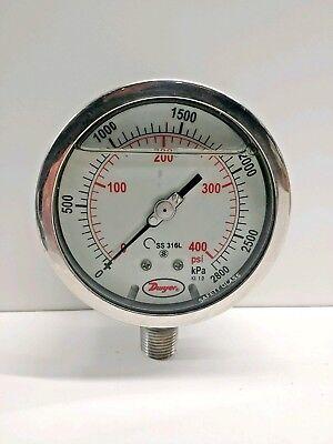 New Old Stock Dwyer 0-400 Psi Oil Filled Pressure Gauge Sg1-f09