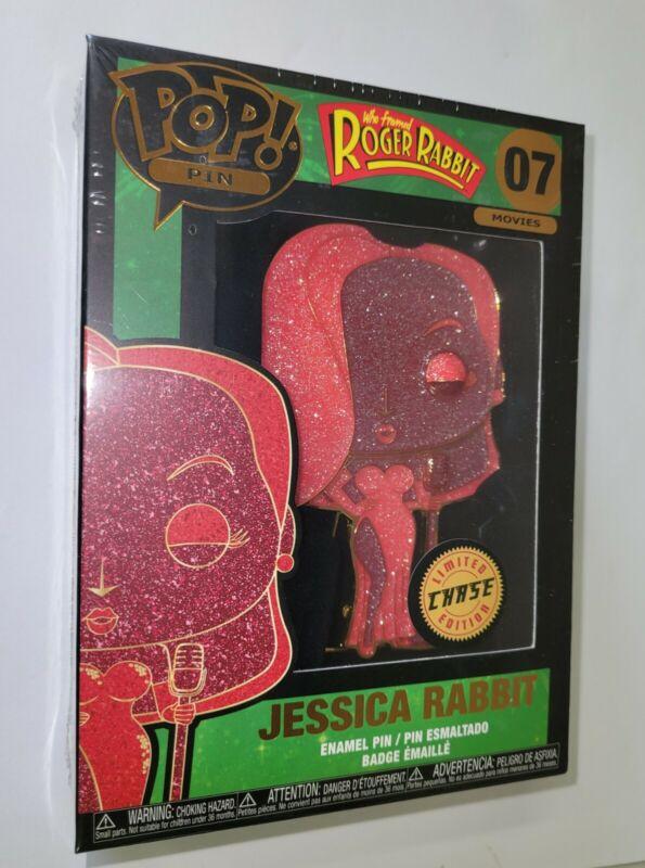 JESSICA RABBIT #07 CHASE  Funko POP PIN DISNEY JUMBO in BOX New LARGE