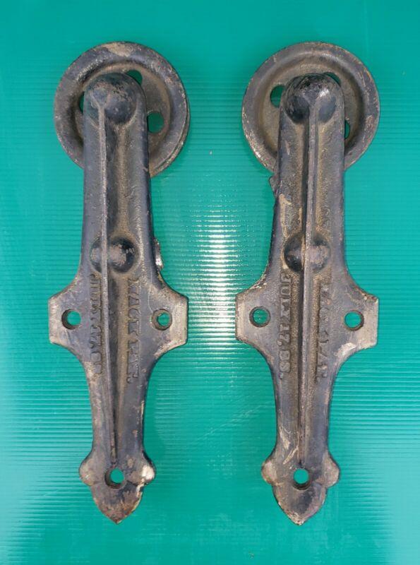 ANTIQUE 1883 MACK BARN DOOR HARDWARE TROLLEYS USPTO OAKLAND COUNTY MI DETROIT