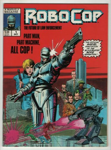 RoboCop #1 NM+ Marvel Magazine 1987 Movie Adaptation 1st App