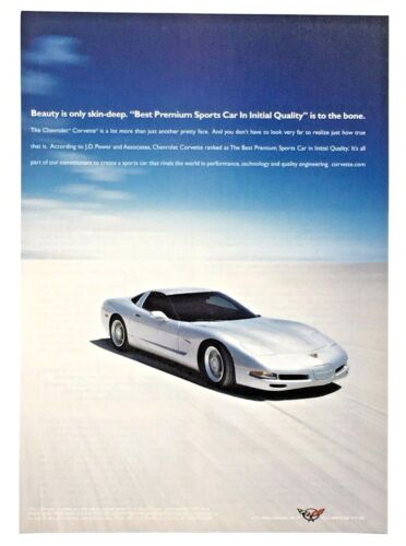 2002 Chevrolet Corvette Advertisement Chevy Sports Car Photo Silver Print AD