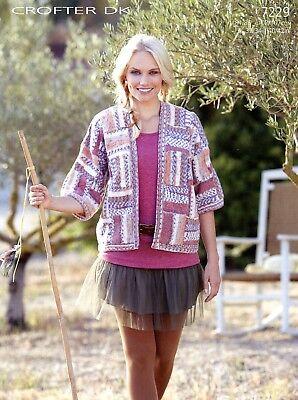 Sirdar Crofter DK Knitting Pattern 7229 Jacket Teens & Women 32-42