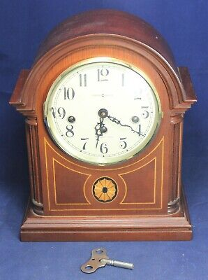 Howard Miller 613-180 Barrister Mantel Clock w/ Westminster Chimes & Inlay