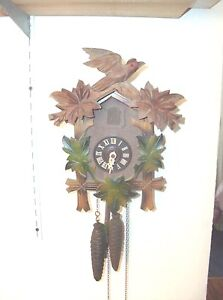 30 Hour Colorful Cuckoo Clocks Made In Germany Ebay