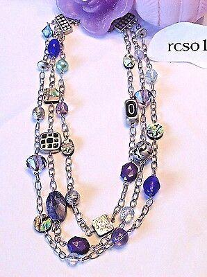 Beautiful Lia Sophia  Carnivale  Necklace  17 20  Long  Nwot
