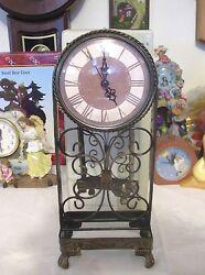Antique Finish Mantel Quartz  Mantel/ Shelf Clock  New In Box