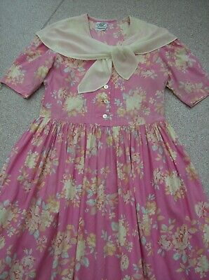 Vintage Laura Ashley Cotton Lawn Tea Dress  UK 14 (EU 40, USA 12)