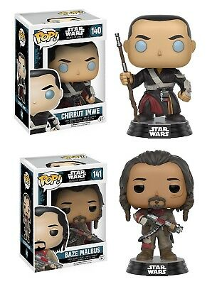 Star Wars Rogue One Baze Malbus & Chirrut Imwe Funko Pop Vinyl Figures Set of 2