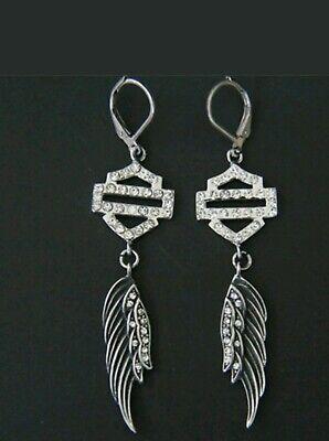 Harley Davidson biker wing earrings