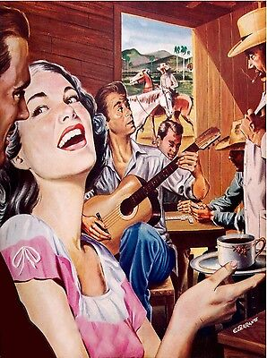 High Quality POSTER on Paper or Cotton Canvas.Home Decor art.Country Music.3835