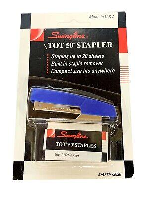Vintage Swingline Tot 50 Mini Stapler With Staples 74711-79030