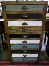 New Recycled Timber Vintage Lingerie Chest Of Drawers Tallboy Melbourne CBD Melbourne City Preview