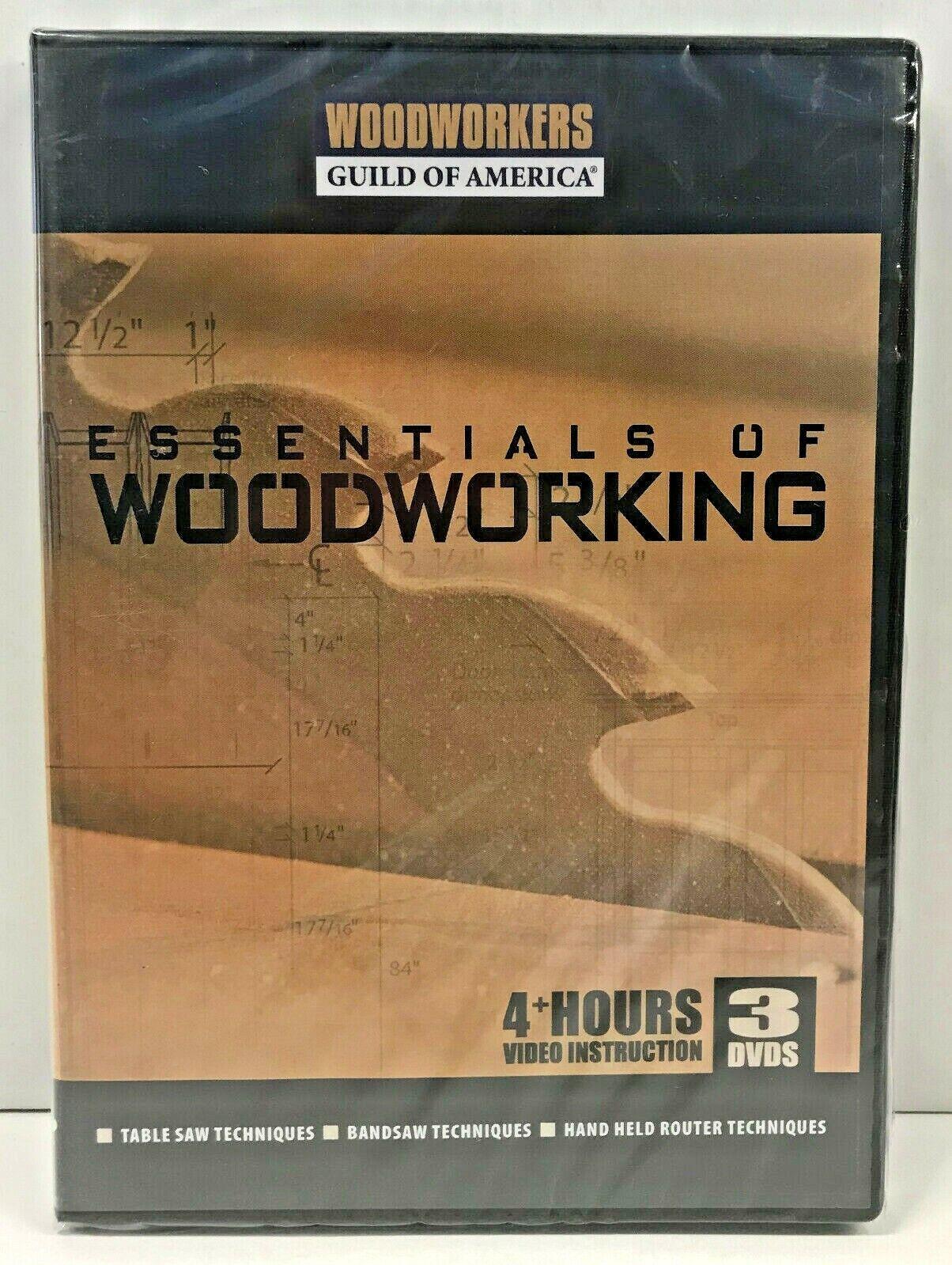 NEW Woodworkers Guild: Essentials of Woodworking ~ George Vondriska [Writer] DVD