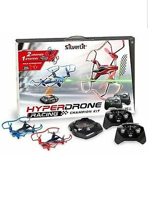 Silverlit Hyper Racing Drones Rc Drone With Battle Station Double Drones 2 in 1