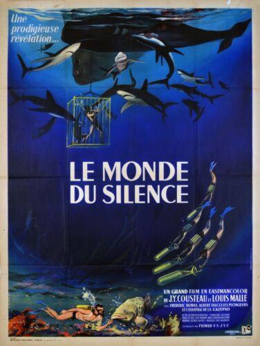 SILENT WORLD - ORIGINAL FRENCH POSTER - VERY RARE