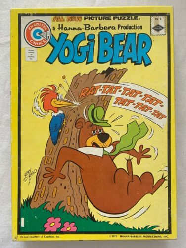 YOGI BEAR  COMIC BOOK COVER PUZZLE  CHARLTON  BUILT RIGHT  1975  HANNA BARBERA