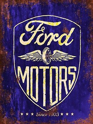 Ford Motors, Retro replica vintage style metal sign/plaque Gift Garage