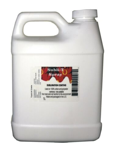 SUBLIMATIONSPRAY/ COATING FOR 100% COTTON 34 oz (1 liter)