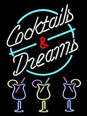 Cocktails And Dreams, Retro metal Aluminium Sign vintage / man cave / Bar/ Pub