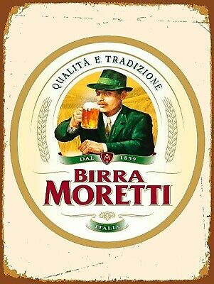 Birra Moretti, Retro replica vintage style metal sign/plaque Gift