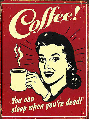 Coffee, Retro metal Sign/Plaque Wall vintage / Kitchen Gift